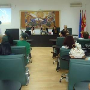 """Предавање на тема """"Домашно насилство"""" во соработка со УЖ ВМРО-ДПМНЕ Кавадарци"""