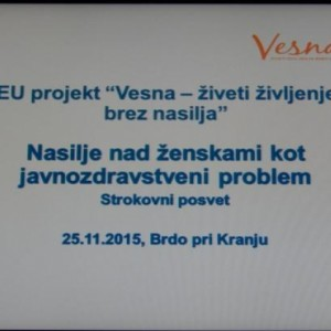Conference within national campaign Vesna: Violence against women as a public health problem
