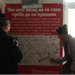 Интервју на локална телевизија во Пехчево