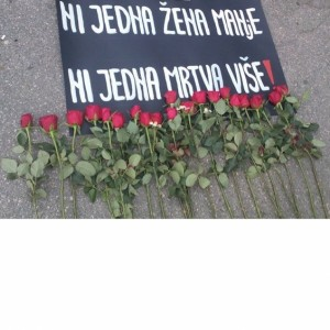 Protest against the murder of women in Serbia