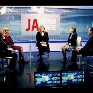 Nada Golubović in TV broadcast with the Director of Agency for Gender Equality of BiH