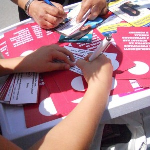 "Association of Roma Women ""Osvit"" from Niš organized street action against femicide"