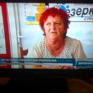 Интервју на локална телевизија во Струга