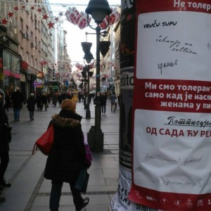 Campaign against violence in the streets of Belgrade