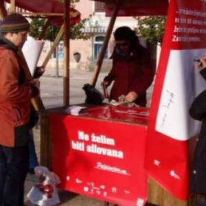 Public action to collect signatures in Poreč